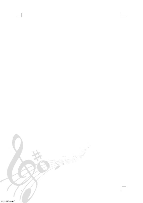 音符墙面边框设计