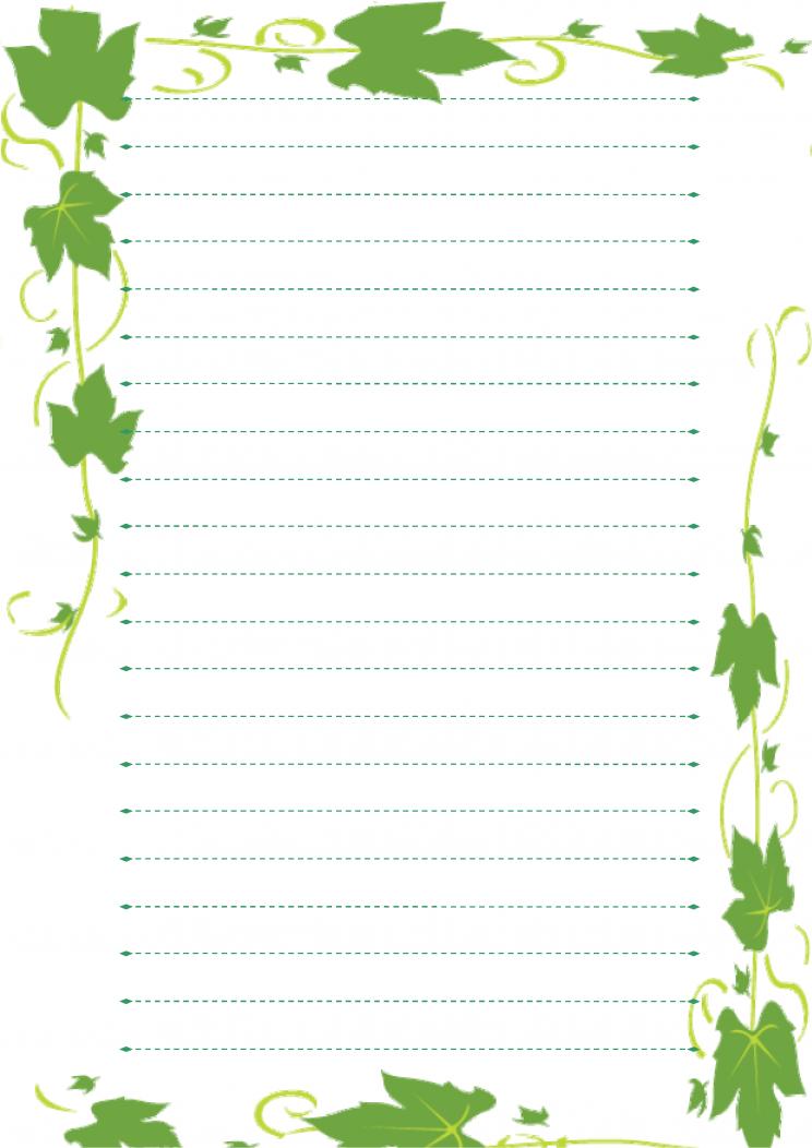 信纸-绿模板免费下载_4541