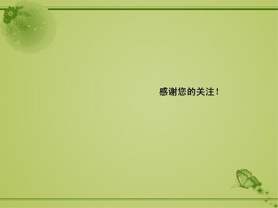 淡绿色花纹ppt模板模板免费下载