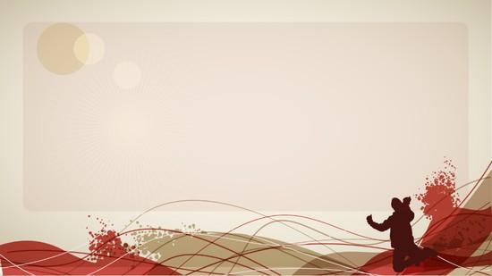 红色激情ppt模板模板免费下载
