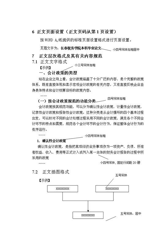 中南财经政法大学自考论文格式模板免费下载_23087