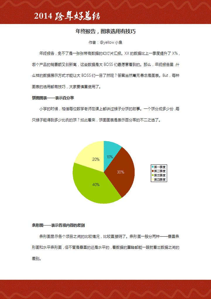 稻壳儿出品-年终报告,图表选用有技巧模板免费下载
