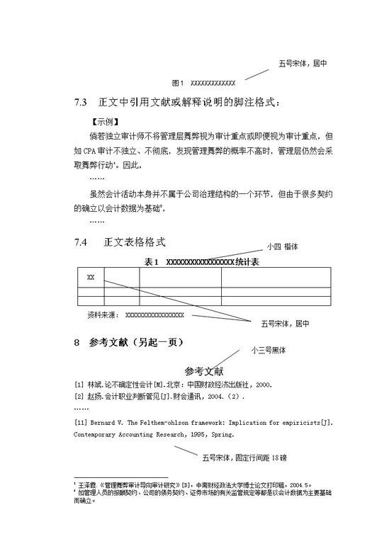 中南财经政法大学自考论文格式模板免费下载