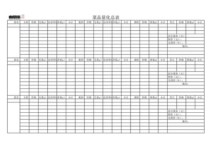 产品制作流程表模板免费下载