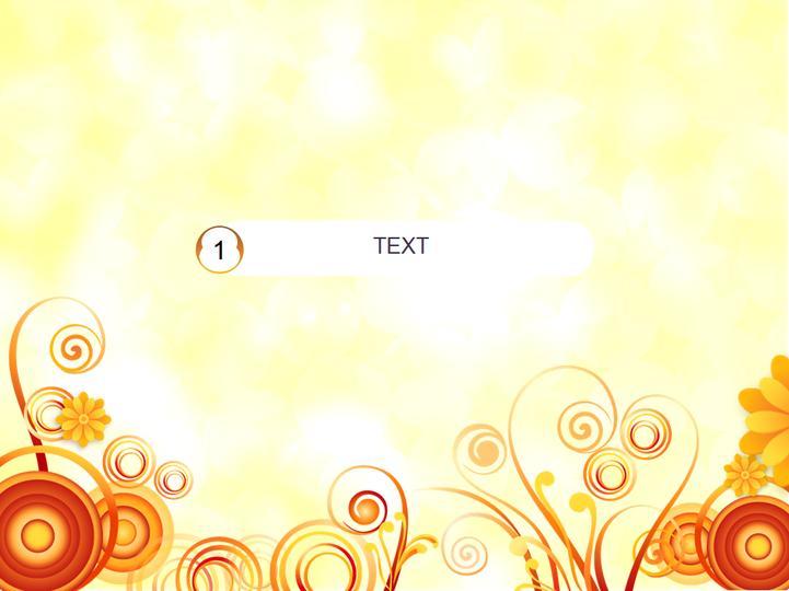 橙色花纹类模板
