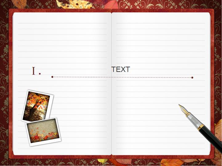 书页展开型精美ppt模板模板免费下载