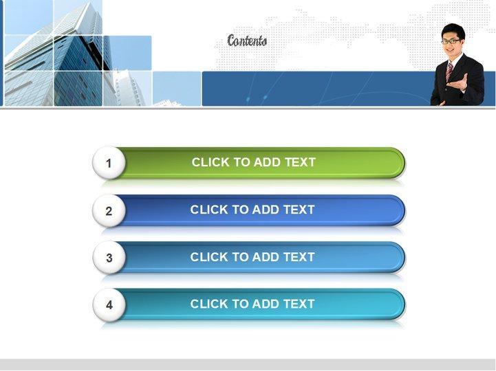 蓝色渐变方块商务模板模板免费下载