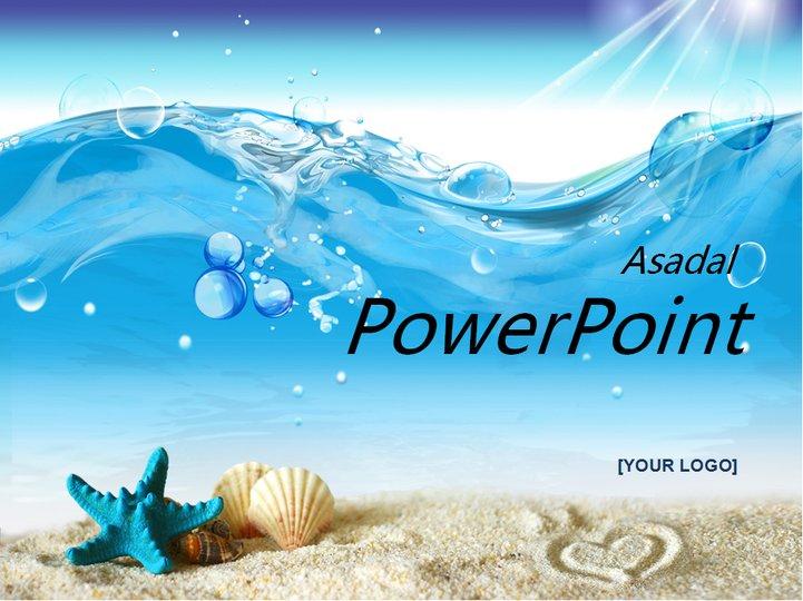 蓝色海洋贝壳系列模板