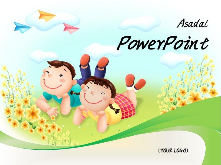 可爱儿童插画展示模板模板免费下载