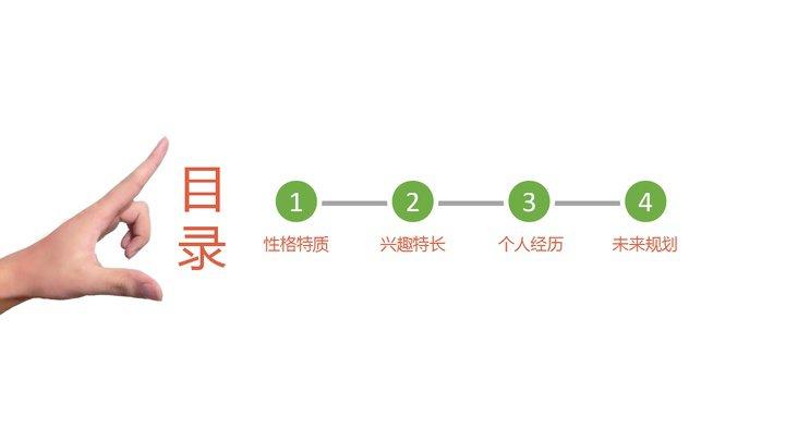 小清新开学入职自我介绍ppt模板免费下载
