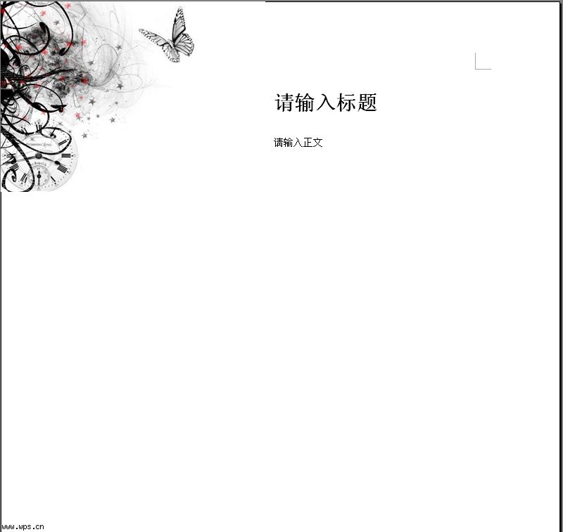 信纸模板免费下载   wps在线模; 水墨蝴蝶; 在线模板 信纸 > 水墨蝴蝶图片