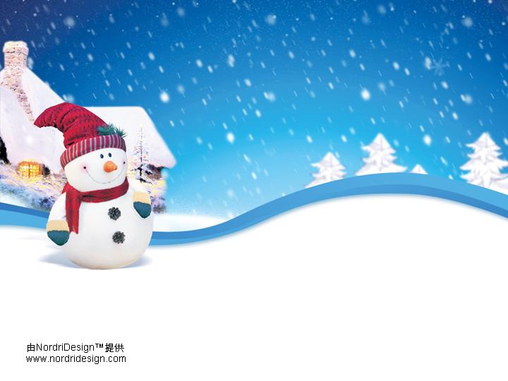 圣诞小雪花ppt模板