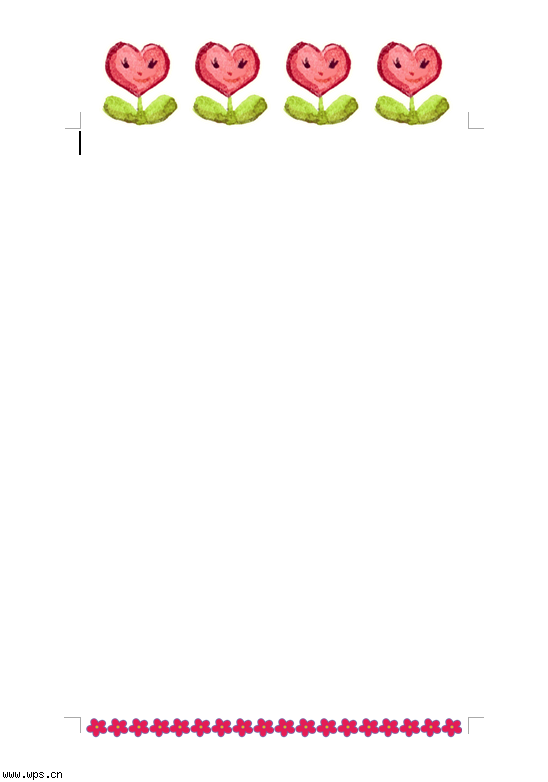 可爱小花信纸模板免费下载_121