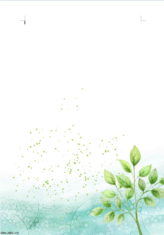 绿树信纸模板免费下载_12106- wps在线模板图片