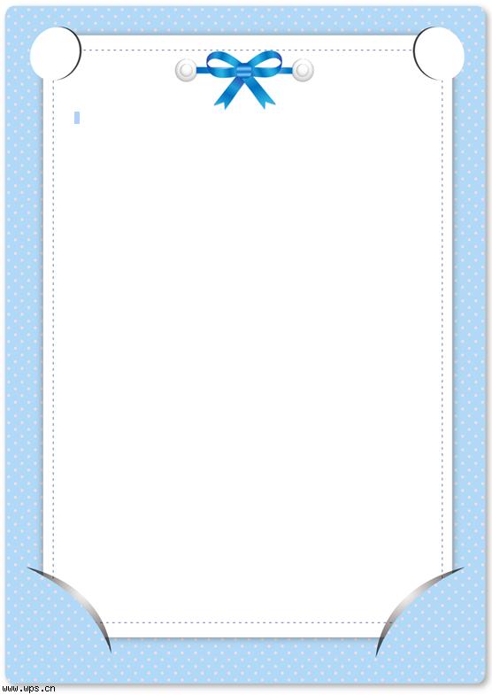 浅蓝色简约信纸模板免费下载