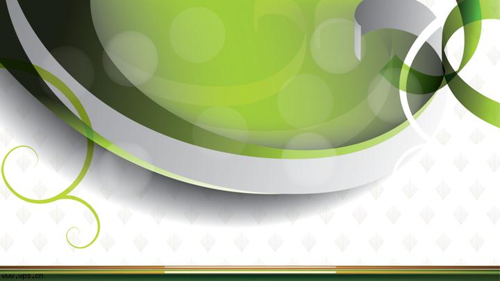 绿色精灵ppt模板模板免费下载