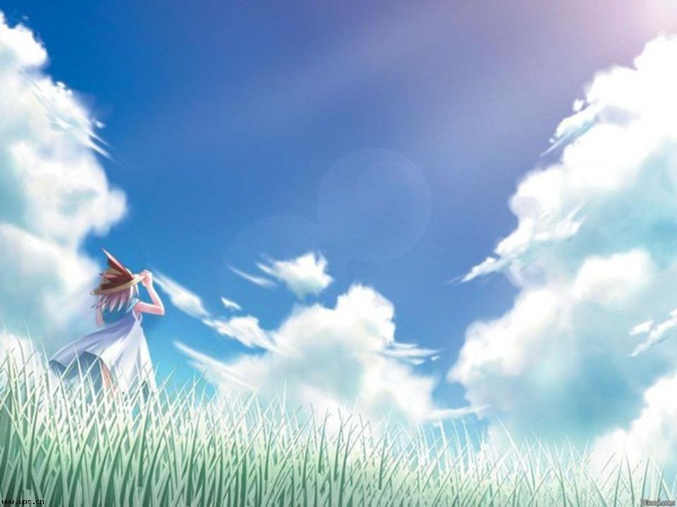 蓝天白云背景23张ppt模板