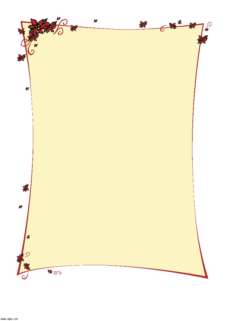 彩带信纸模板免费下载