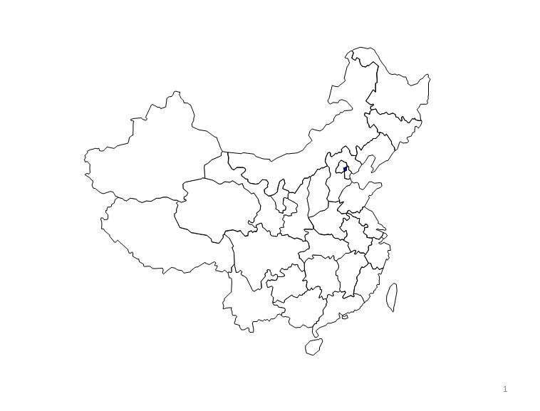 可填充颜色的中国地图模板免费下载