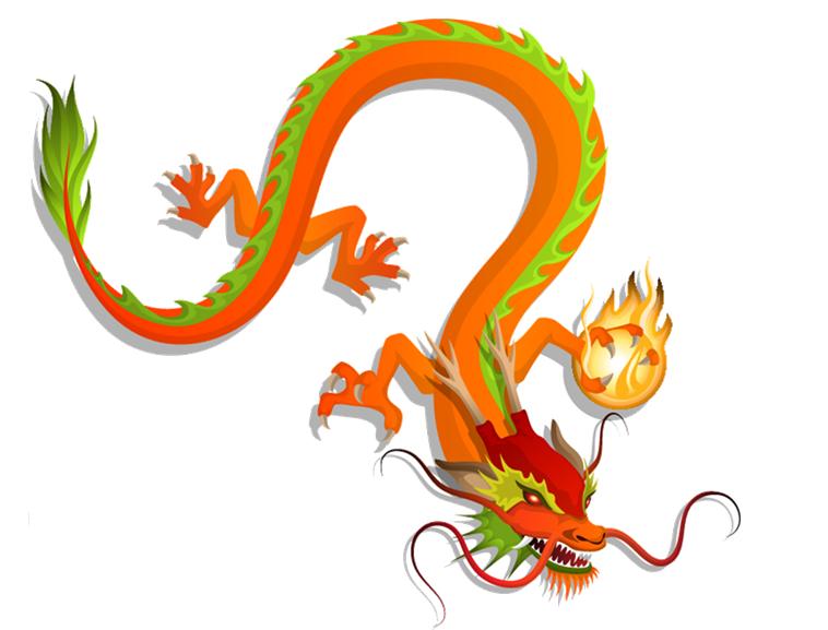 背景透明ppt中国龙素材模板免费下载