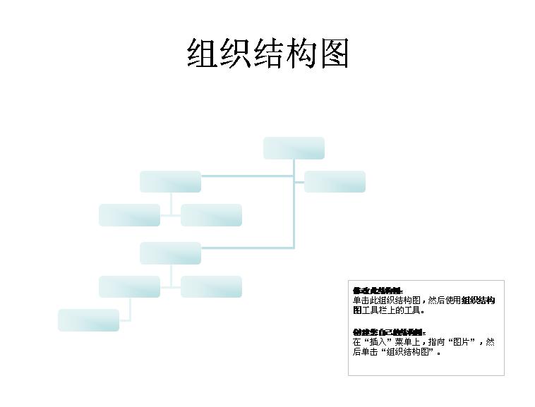 复杂组织结构图模板免费下载