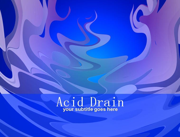 抽象蓝色英文ppt模板下载; 蓝色波浪线条花纹; 蓝色背景的水污染预防