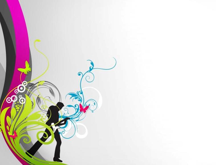 艺术花纹音乐节拍ppt模板模板免费下载