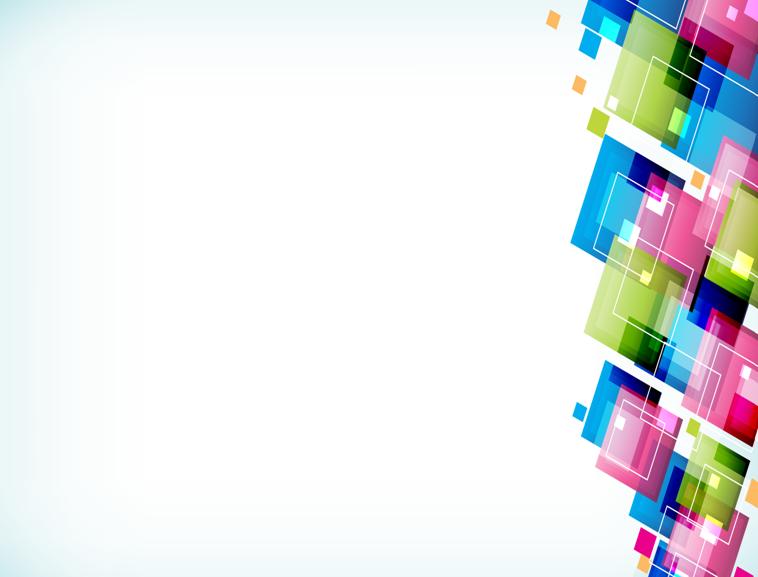 多彩方块花边ppt模板模板免费下载
