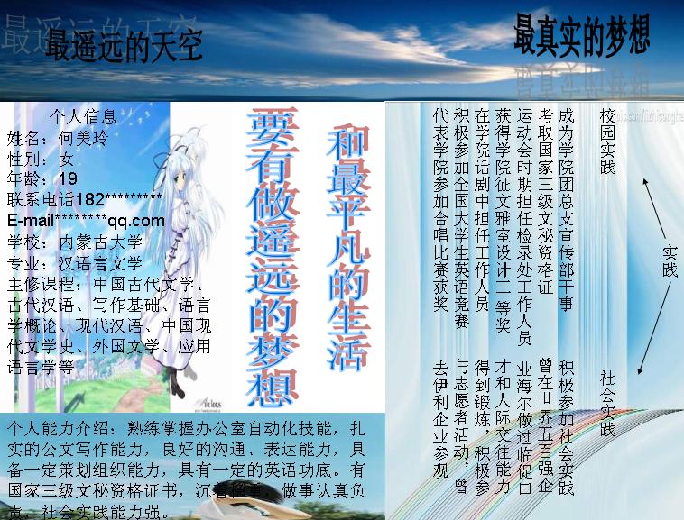 何美玲个人简历模板模板免费下载_45520- wps在线模板图片