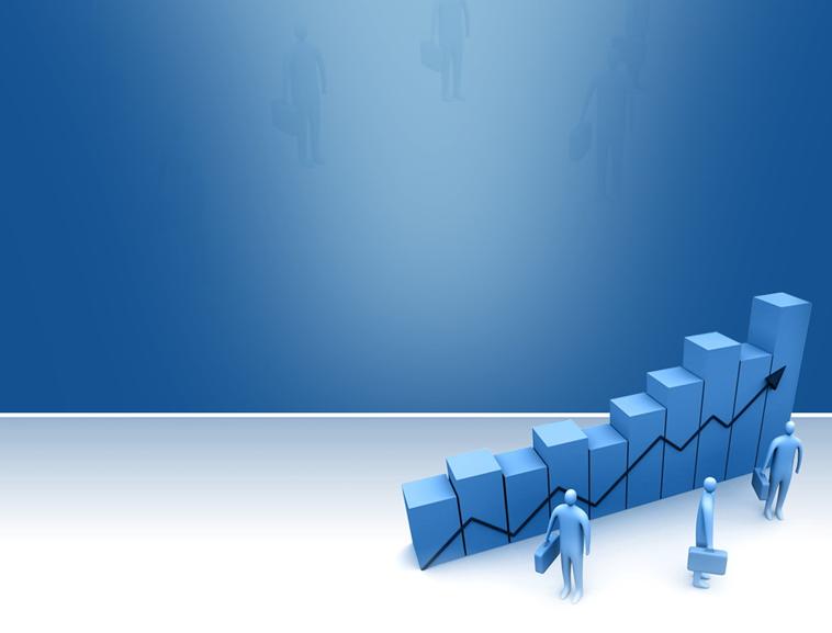 蓝色台阶步步高商务ppt模板