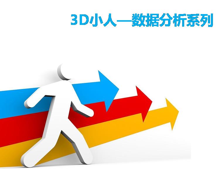 3d小人商务数据分析系列素材