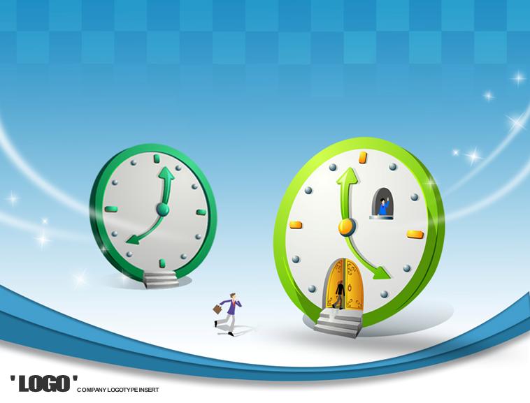 时间主题商务ppt模板模板免费下载_51686- wps在线模板