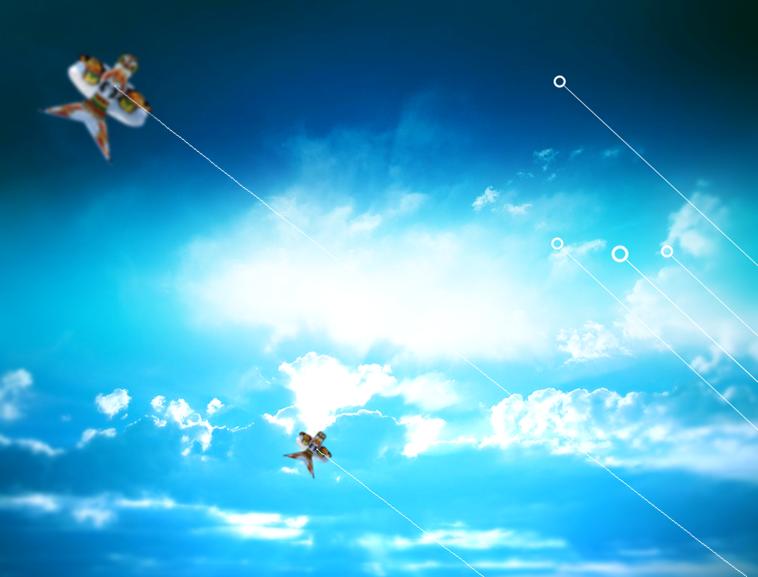 蒋志海制图 敖堃 人类有渴望自由的天性,而最大的自由无疑是摆脱大地的束缚在天空翱翔。智慧的人类发明了风筝,延长了人类的手臂,也是人类向往天空的最初的成功尝试。 风筝的起源有多种猜想,有些民俗学家认为,古人发明风筝主要是为了怀念故世的亲友,所以在清明节鬼门短暂开放时,将慰问故人的情意寄托在风筝上,传送给死去的亲友。具体一点,有人说是农民戴的斗笠被风吹飞,而斗笠的系绳足够长,拉住斗笠,就是放风筝。另外南方高山族同胞有用树叶拴麻绳放飞的游戏,逐步演变成放风筝。 有人认为风筝模仿的是帆船的风帆的原理,是人类最早