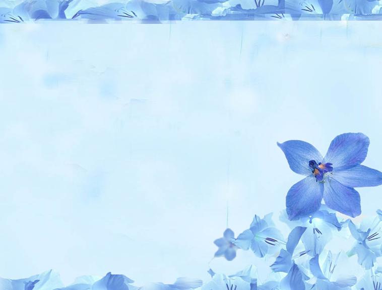 兰花背景蓝色ppt模板模板免费下载