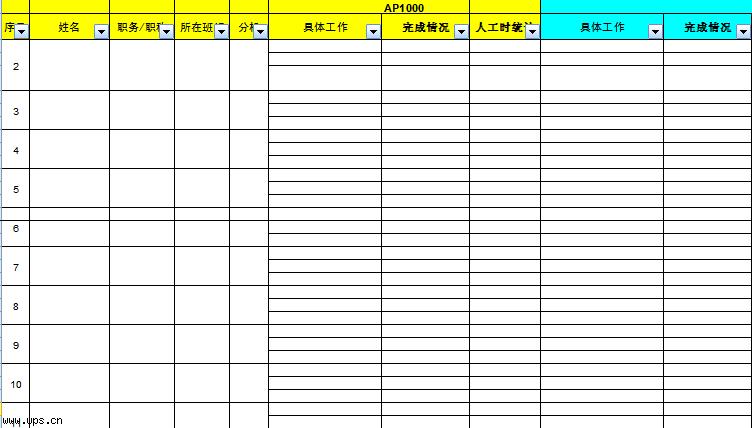员工季度工作绩效考核表