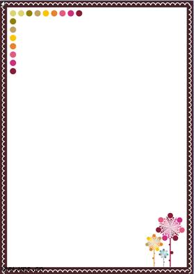 橄榄色边框花纹信纸模板免费下载_13469- wps在线模板