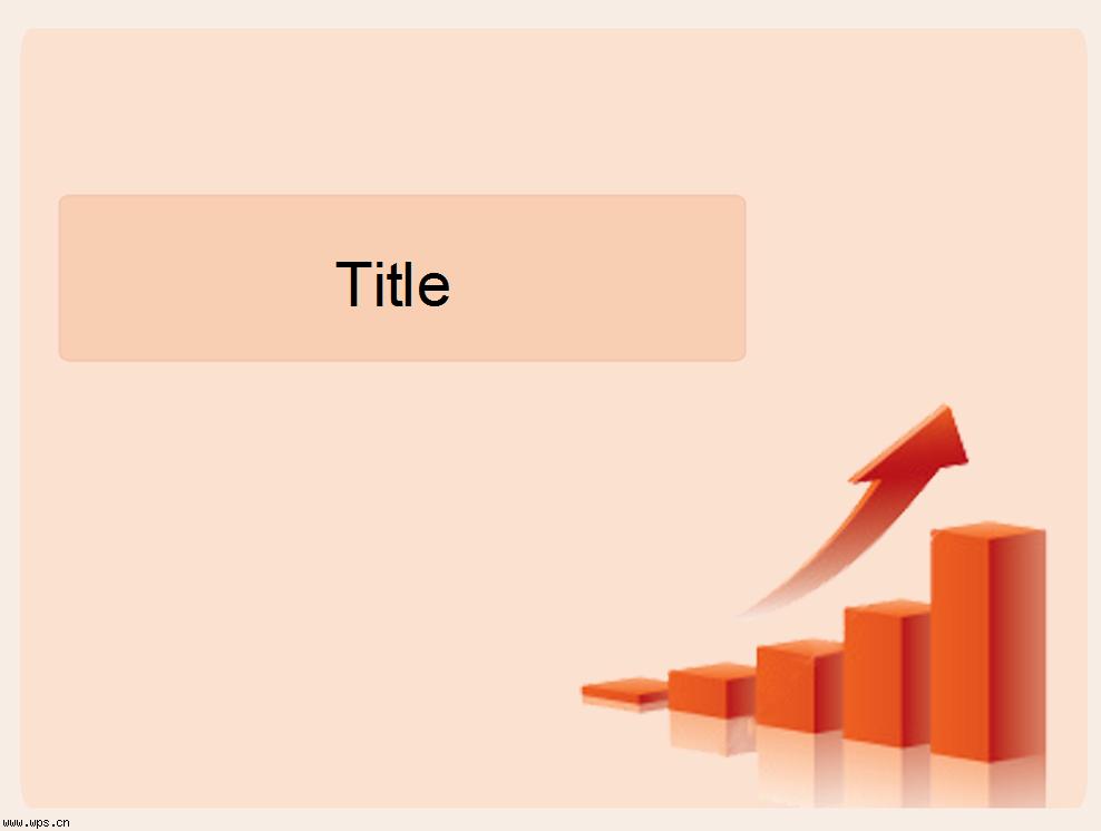简约红色商务立体图表模板免费下载