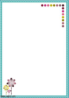 绿色边框花纹信纸模板免费下载