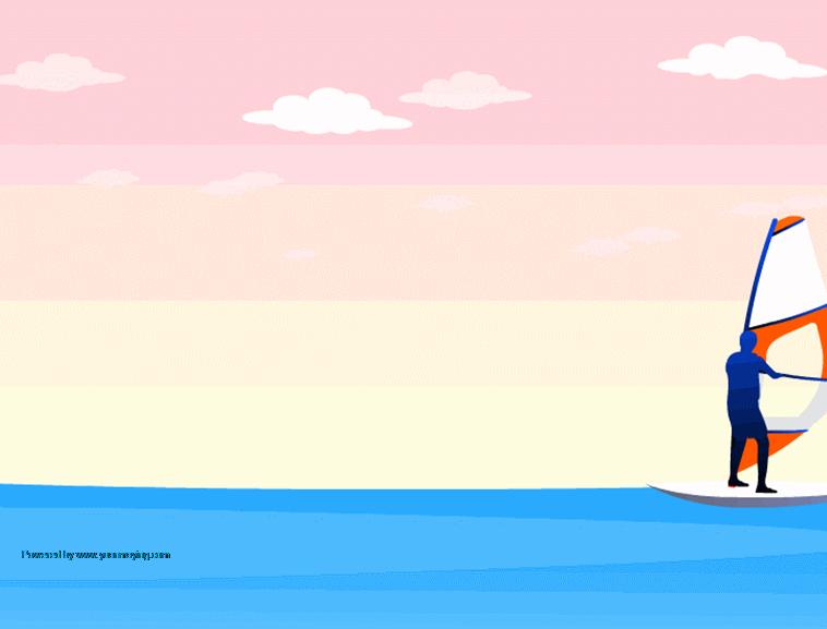 帆船大海ppt模板模板免费下载