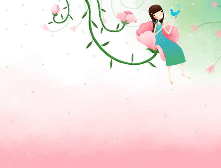 ppt卡通女孩可爱背景图片模板免费下载_ 62988 - wps