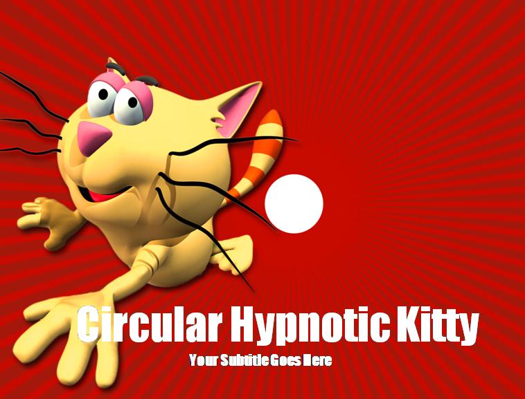 可爱卡通傻猫ppt模板模板免费下载