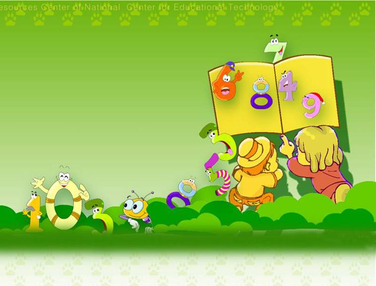 绿色卡通背景图片模板免费下载