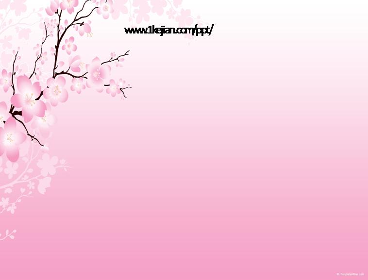 粉色精美梅花背景ppt模板