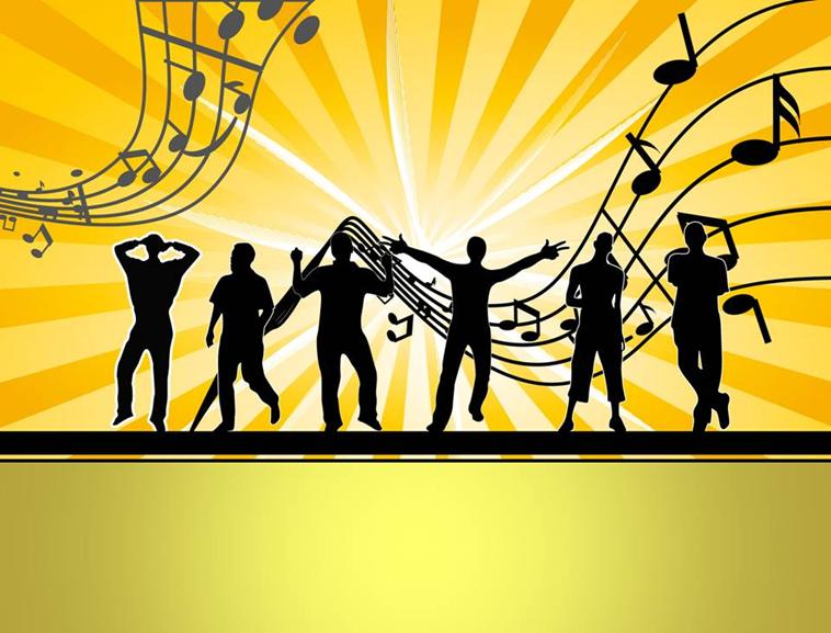 音乐热舞ppt模板; ppt背景音乐纯音乐; 两套热舞狂欢ppt模板图片