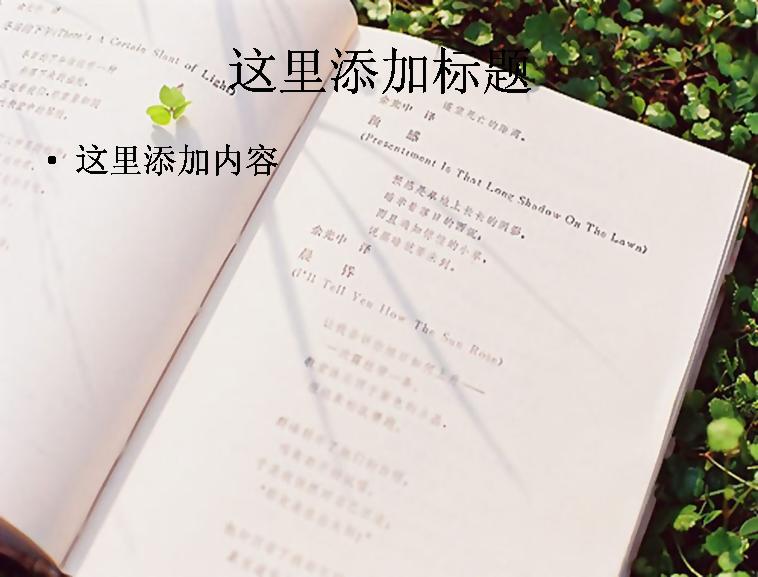 书中花朵唯美意境(5)]同类模版图片
