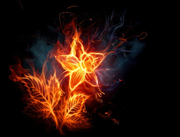 燃烧火焰花朵图片模板免费下载_81487- wps在线模板