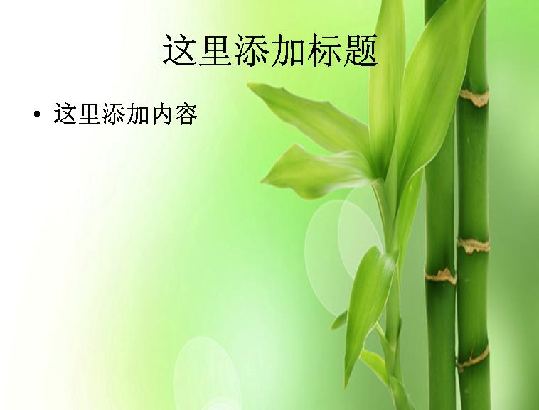 清新绿叶ppt背景模板免费下载_92814- wps在线模板