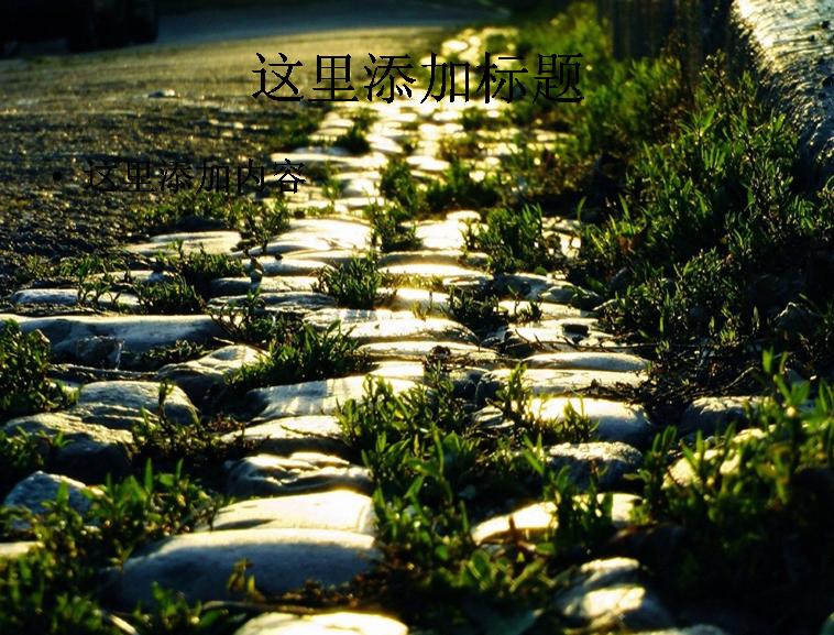 乡间小路风景高清ppt(5)