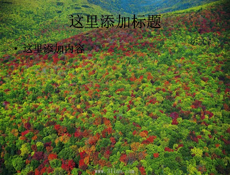 山和绿树图片ppt