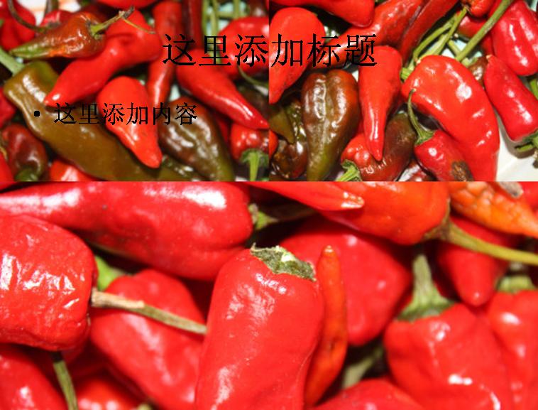 高清晰的辣椒高清图片ppt植物素材